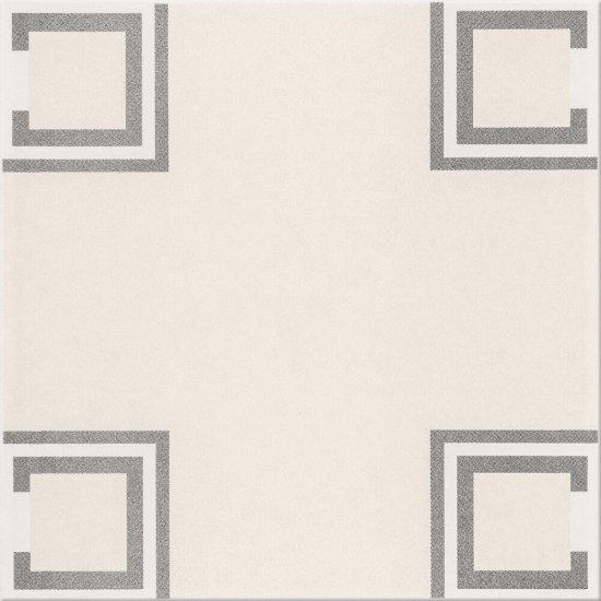 Gres szkliwiony BASIC PALETTE biały wzór B poler 29,7x29,7 gat. II
