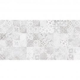 Płytka ścienna CEMENTO PERTH szara patchwork błyszcząca 30x60 gat. I