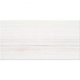 Płytka ścienna TUKA biała fale struktura małe kropki błyszcząca 29,7x60 gat. I