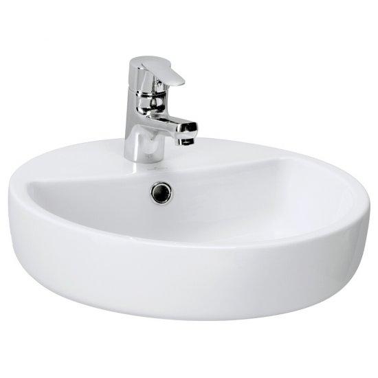 Umywalka pojedyncza nablatowa CASPIA RING 44