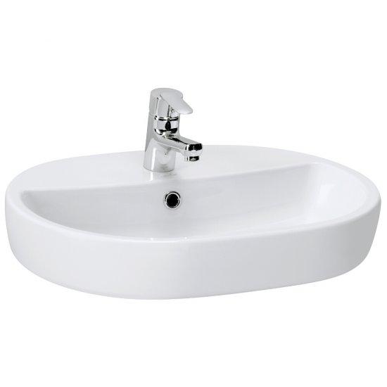 Umywalka pojedyncza nablatowa CASPIA OVAL 60
