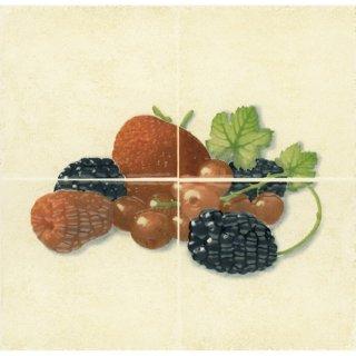Płytka ścienna Cucina beige kompozycja fragola owoce 1 20x20 Cersanit
