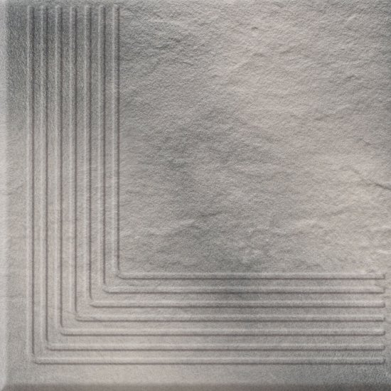 Klinkier SOLAR szary stopnica narożna 3-D mat 30x30 gat. I