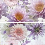 Płytka ścienna CHINESE ASTERS multikolor inserto kwiaty 59,4x60 gat. I