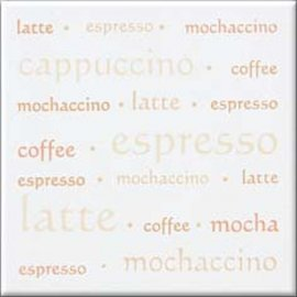 Płytka ścienna APLAUZ biała inserto espresso błyszcząca 10x10 gat. I