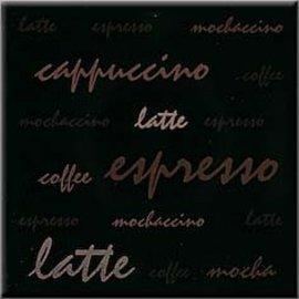 Płytka ścienna APLAUZ czarna inserto espresso błyszcząca 10x10 gat. I