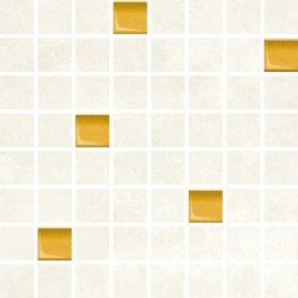 Płytka ścienna REGNA biało-żółty mozaika mat 25x25 gat. I