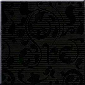 Płytka ścienna APLAUZ czarna inserto ornament błyszcząca 10x10 gat. I