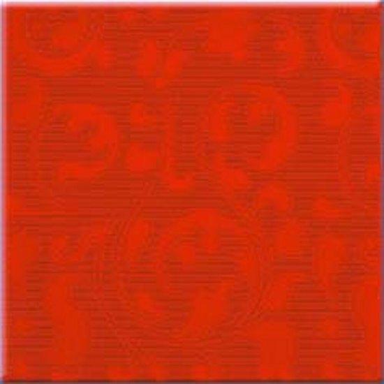 Płytka ścienna APLAUZ czerwona inserto ornament błyszcząca 10x10 gat. I