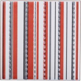 Płytka ścienna APLAUZ multikolor inserto paski błyszcząca 10x10 gat. I