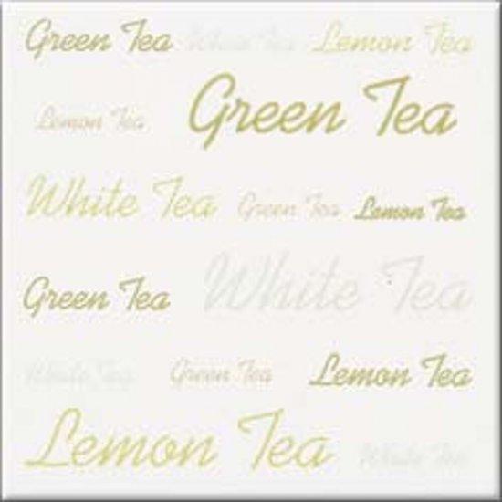 Płytka ścienna APLAUZ biała inserto tea błyszcząca 10x10 gat. I