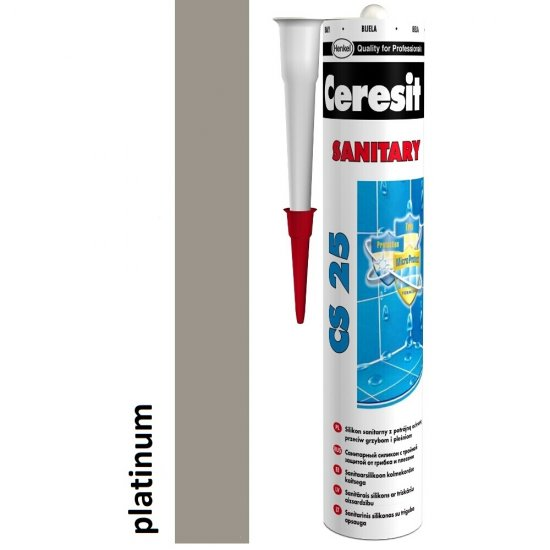 Silikon sanitarny CERESIT CS 25 platinum 280 ml