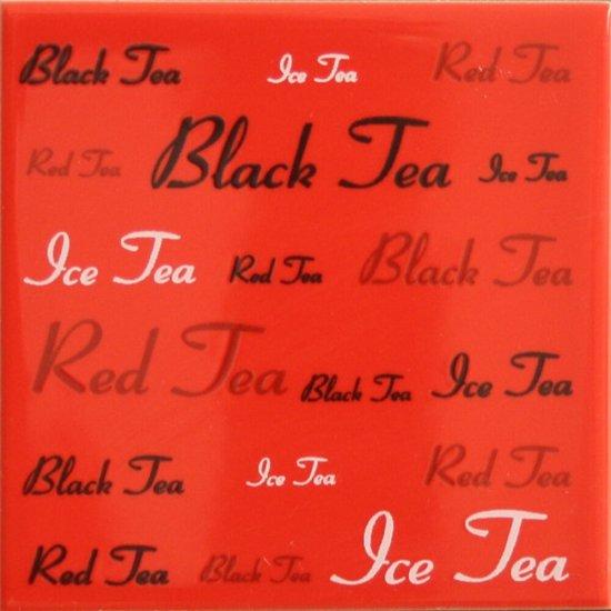 Płytka ścienna APLAUZ czerwona inserto tea błyszcząca 10x10 gat. I