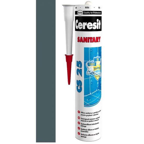 Silikon sanitarny CERESIT CS 25 iron grey 280 ml