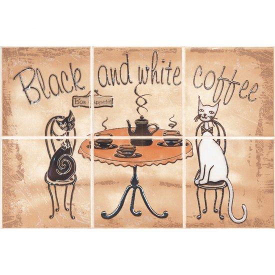 Płytka ścienna SAGRA beżowa kompozycja coffee mat 20x30 gat. I