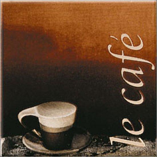 Płytka ścienna INWENCJA brązowa inserto cafe mat 10x10 gat. I