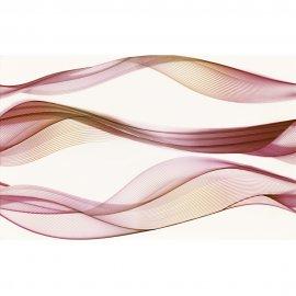 Płytka ścienna ELFI czerwona inserto fale błyszcząca 25x40 gat. I