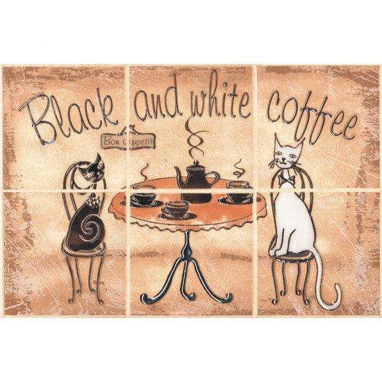 Płytka ścienna SAGRA piaskowa kompozycja coffee 1 mat 20x30 gat. I