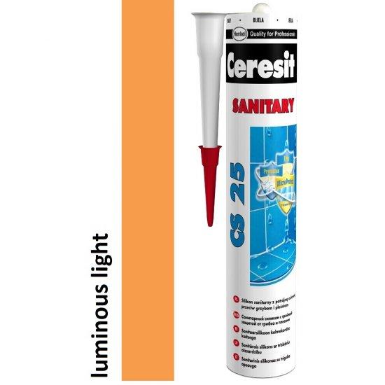 Silikon sanitarny CERESIT CS 25 luminous light 280 ml