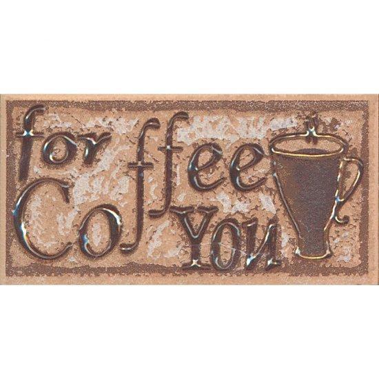Płytka ścienna SAGRA orzech listwa coffee mat 5x10 gat. I
