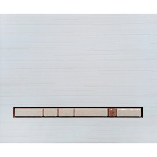 Płytka ścienna SATYSFAKCJA beżowa inserto mozaika błyszcząca 20x25 gat. I