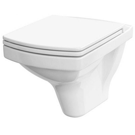 Miska WC podwieszana EASY biała bezkołnierzowa