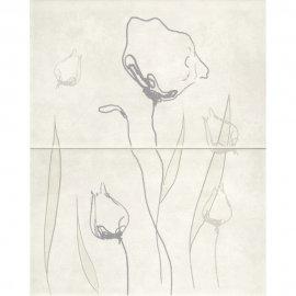 Płytka ścienna REGNA biała inserto kwiaty 40x50 gat. I