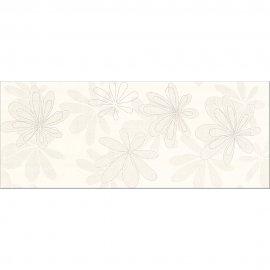 Płytka ścienna CAPRI kremowa inserto kwiaty błyszcząca 20x50 gat. I