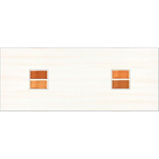 Płytka ścienna CAPRI pomarańczowa inserto geo błyszcząca 20x50 gat. I