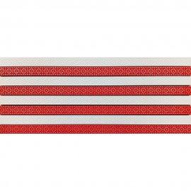 Płytka ścienna FUSION czerwona mozaika błyszcząca 20x50 gat. I