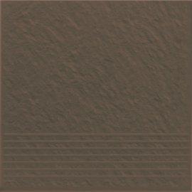 Klinkier SIMPLE BROWN brązowy stopnica struktura mat 30x30 gat. I