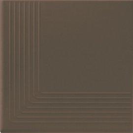 Klinkier SIMPLE BROWN brązowy stopnica narożna mat 30x30 gat. I**