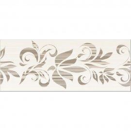 Płytka ścienna ORGANZA brązowa inserto kwiaty mat 20x50 gat. I