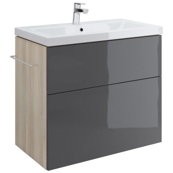 Szafka podumywalkowa SMART szara pod umywalki COMO / AMAO / ZURO 80