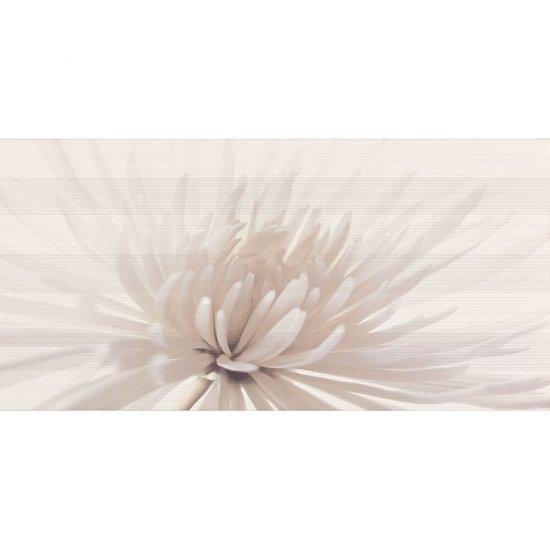 Płytka ścienna AVANGARDE biała inserto kwiaty błyszcząca 29,7x60 gat. I