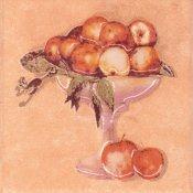 Płytka ścienna SAGRA pomarańczowa motyw owoce 2 mat 10x10 gat. I