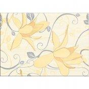 Płytka ścienna ARTIGA żółta inserto kwiaty błyszcząca 25x35 gat. I