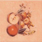 Płytka ścienna SAGRA pomarańczowa motyw owoce 3 mat 10x10 gat. I