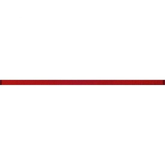 Płytka ścienna AVANGARDE czerwona listwa szklana błyszcząca 2x60 gat. I