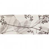 Płytka ścienna ORISA biała inserto kwiaty mat 20x50 gat. I