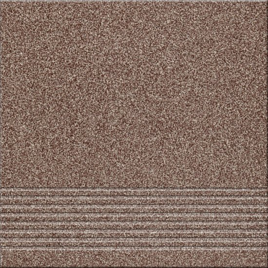 Gres techniczny KALLISTO brązowy stopnica k5 mat 29,7x29,7 gat. II
