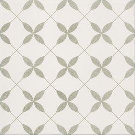 Gres szkliwiony PATCHWORK CONCEPT biało-szary clover pattern satyna 29,8x29,8 gat. II