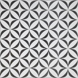 Gres szkliwiony PATCHWORK CONCEPT biało-czarny vertigo satyna 29,8x29,8 gat. II