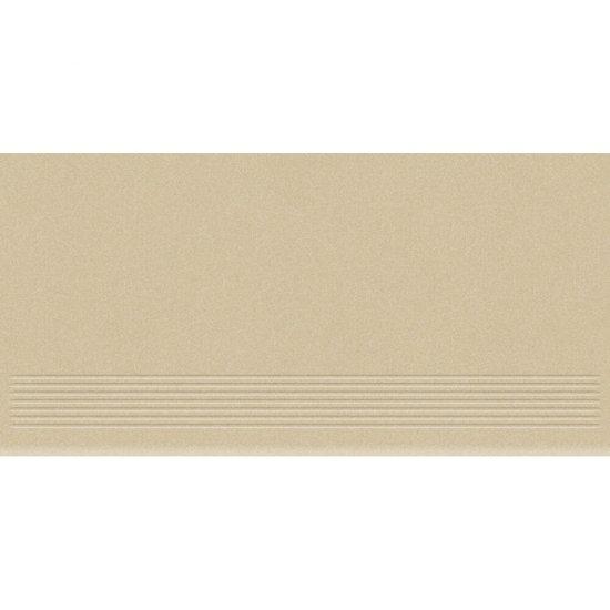 Gres zdobiony MOONDUST beżowy stopnica mat 29,55x59,4 gat. II