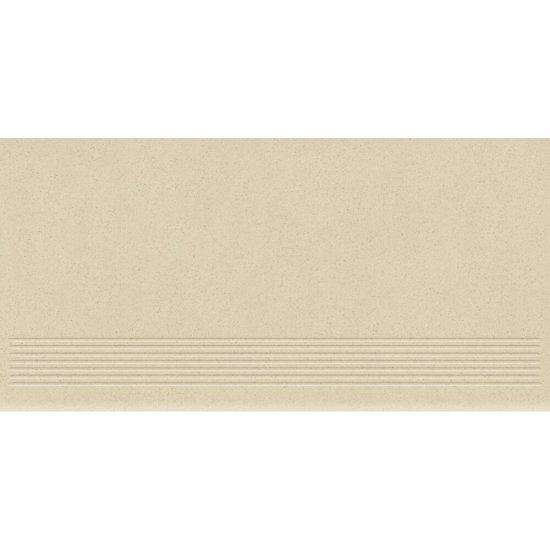 Gres zdobiony MOONDUST kremowy stopnica mat 29,55x59,4 gat. II