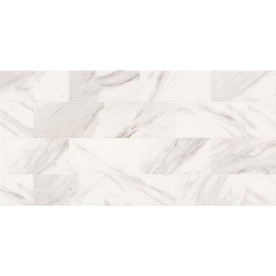 Płytka ścienna MARBLE CHARM biała geo błyszcząca 29x59,3 gat. II