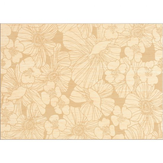 Płytka ścienna FLORES kremowa inserto kwiaty błyszcząca 25x35 gat. I