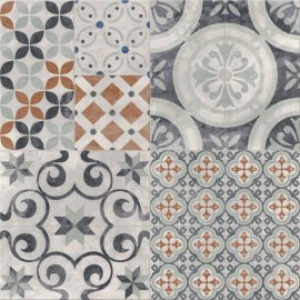 Gres szkliwiony PATCHWORK multikolor TWO mat 42x42 gat. II