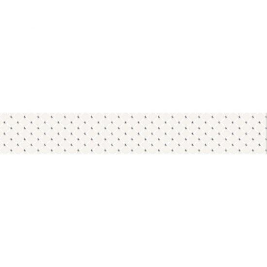 Płytka ścienna BARICELLO biała listwa classic błyszcząca 7x45 gat. I