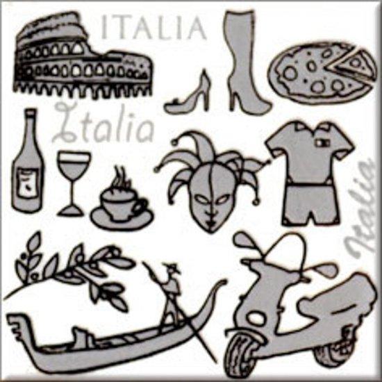 Płytka ścienna MONTANA biała inserto Włochy błyszcząca 10x10 gat. I
